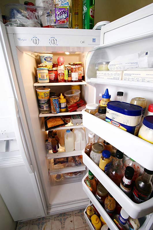 Much like the pantry, the refrigerator is well-stocked with goodies.