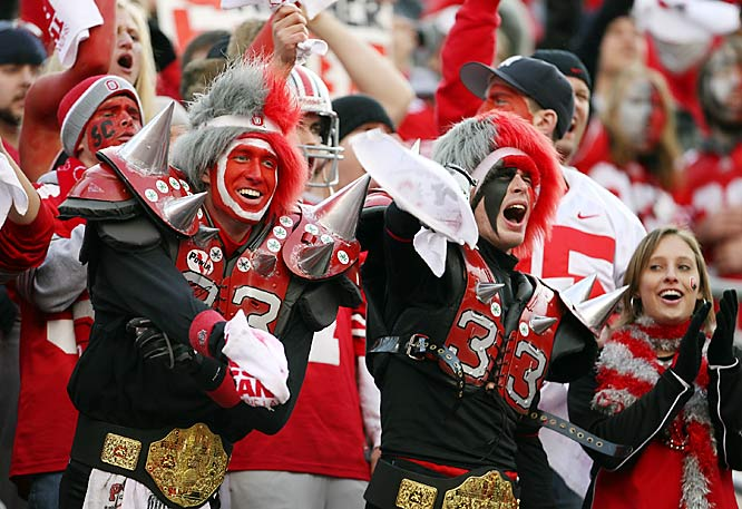 The James Laurinaitis fan club wore their spikes and championship belts for the game.