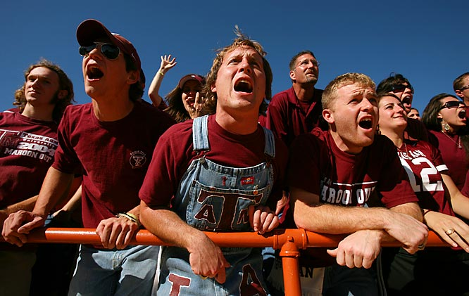 Texas A&M fans had plenty to cheer about after their Aggies' 12-7 victory over in-state rival Texas.