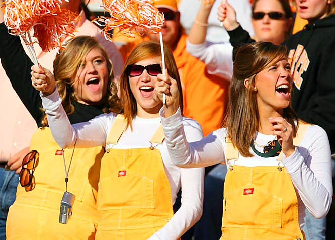 These Tennessee fans donned the overalls for the Vols game against LSU on Saturday.
