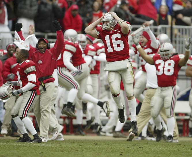Ohio State, the nation's No. 2 team, scored the game's only two touchdowns, one on freshman tailback Maurice Clarett's two-yard run. With the win, the Buckeyes earned a spot in the BCS title game opposite Miami. The Buckeyes went on to beat the Hurricanes 31-24 for their first national title since 1968.