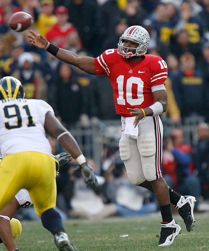 Ohio State quarterback Troy Smith's quick release kept Michigan's defense off him for most of the afternoon.
