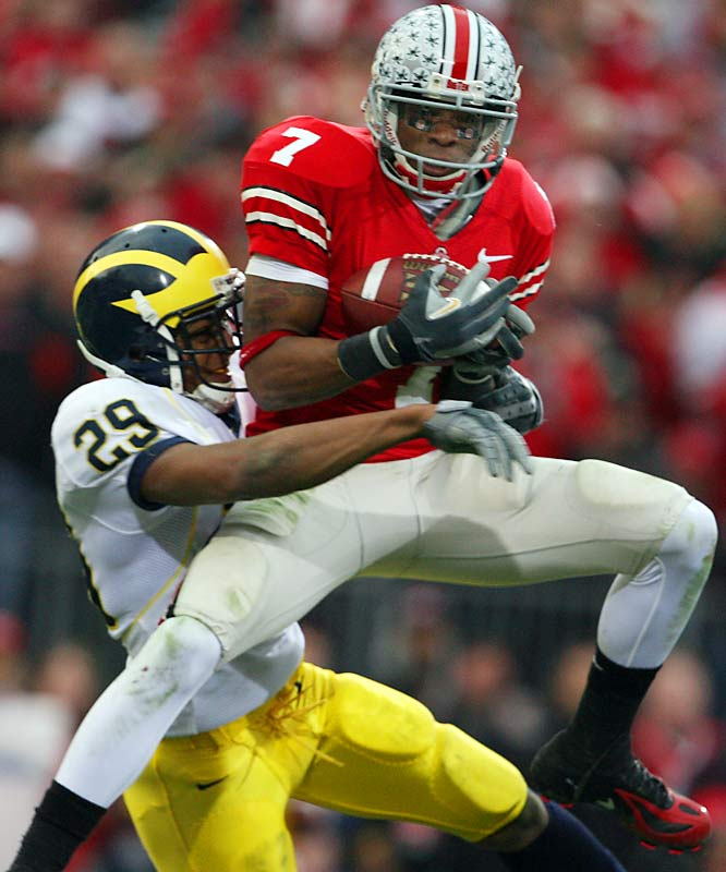 Quite possibly the fastest player in college football -- in high school, he won the national title in the 110-meter high hurdles -- Ginn Jr. excites NFL scouts with his abilities as a big play receiver and special teams stud. His effort against archrival Michigan -- eight catches for 104 yards and a touchdown -- didn't hurt his draft stock.