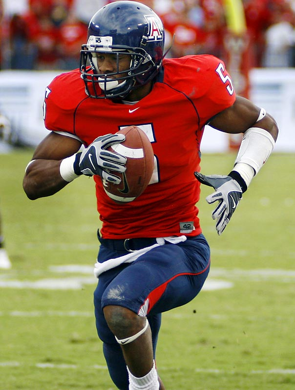 At 6-foot, 187 pounds, Cason has the size to guard the NFL's bigger receivers. Cason's a pure corner with fabulous instincts, technique and athleticism. In 'Zona's upset win over Cal, Cason intercepted Nate Longshore and took it back 39 yards for a game-breaking score.
