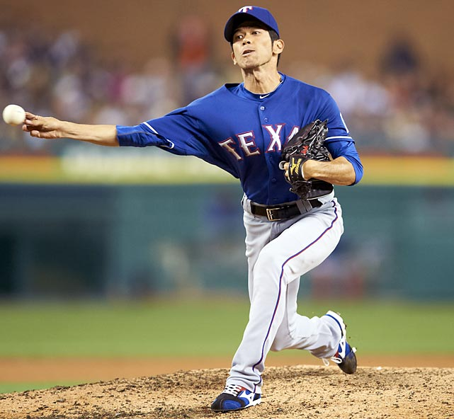 Tateyama came to the majors in 2011 at age 35 and settled into a middle relief role with the Texas Rangers. In 39 games he posted a 4.50 ERA but pitched just once in the postseason, a scoreless inning in Game 3 of the ALCS.