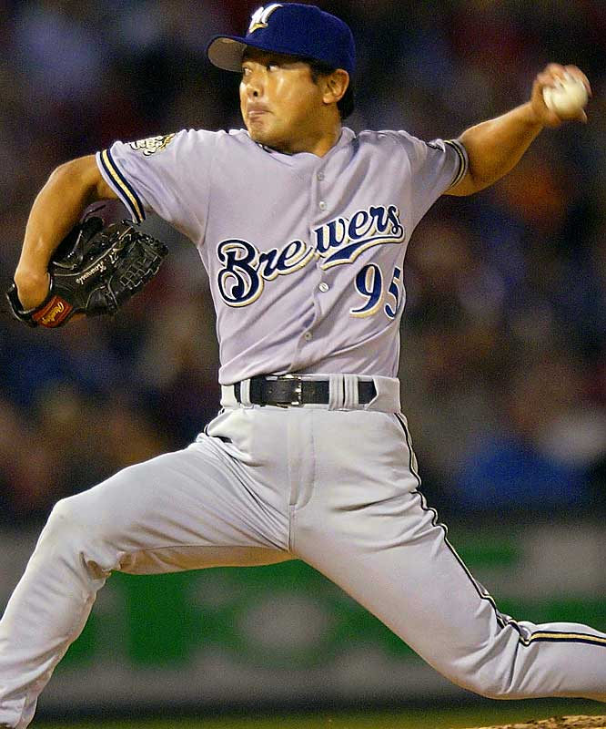 After 10 seasons in Japan, the 33-year-old Nomura signed with the Brewers for one year, $600,000. He pitched only 13 2/3 innings for the Brewers in his lone season in the majors.