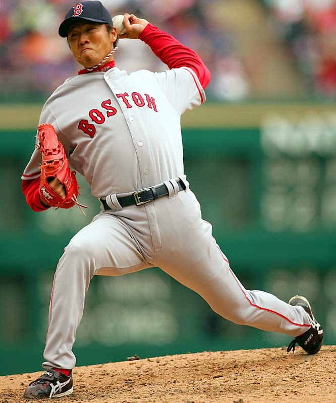 Often forgotten in the wake of the Daisuke Matsuzaka hysteria, Okajima also was acquired by the Red Sox before the 2007 season. He had pitched 10 seasons in Japan as an effective reliever and has posted a 3.11 ERA in his five years in the majors.