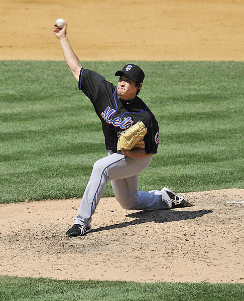 The Mets signed the reliever to a two-year, $3 million contract before the 2010 season, but the right-hander struggled. He posted a 7.12 ERA in 34 appearances. He was designated for assignment in January 2011 to clear roster space.