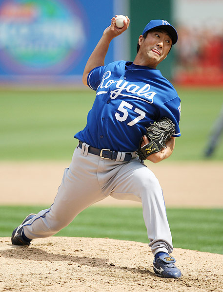 The Chiba Lotte Marines pitcher made a two-year detour to Kansas City, who signed him to a two-year, $6 million deal in 2008. Yabuta went 3-4 with a 7.19 ERA in his two seasons with the Royals. In 2010, he re-signed with the Marines, his team from 1996 to 2007.
