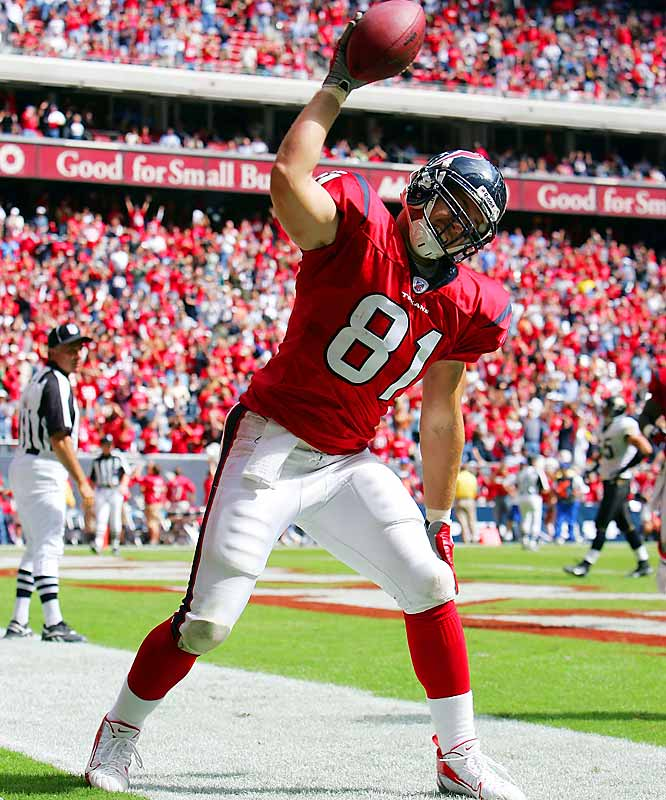Rd. 4, Wisconsin <br><br>Tied for second among tight ends with five TDs