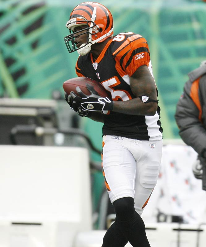 260 ... Chad Johnson's 260 receiving yards last week were the second-highest total in NFL history in a loss. The only player to record more yards in a loss was Jimmy Smith of the Jaguars, with 291 against the Ravens in 2000. Johnson's yards are 12th-most in NFL history and the most since Terrell Owens of the 49ers had 283 against the Bears in 2000.