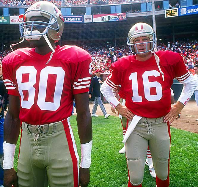 Of all the great 49ers teams, the '90 squad came the closest to going undefeated. With Joe Montana at quarterback and Jerry Rice dominating at receiver, the 49ers started out 10-0 before losing to the Rams in Week 12. The Niners finished the season 14-2 and then lost to the Giants 15-13 in the NFC Championship Game.