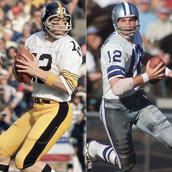 Staubach, the Cowboys great, and Bradshaw, the leader of the Steelers, were two iconic figures of the 1970s. While they both enjoyed tremendous success, their images were quite different. Staubach was the clean cut Navy grad, while Bradshaw was the brash Louisiana Tech product with the big arm. They faced each other in two of the hardest-fought Super Bowls of all time -- both of which Bradshaw's Steelers won -- and will ever be linked together in NFL history.