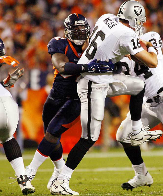 The 5-foot-11, 250-pound Dumervil, who's been called too short forever -- is leading Denver in sacks.