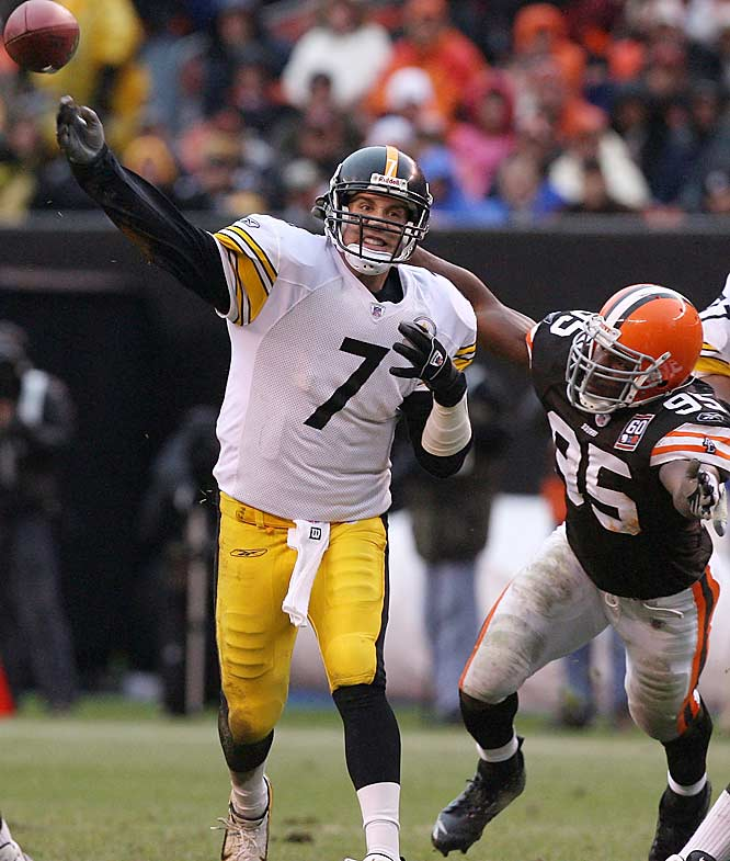 Having thrown for just 48 yards with three interceptions in the first three quarters, Pittsburgh quarterback Ben Roethlisberger rallied his team in the fourth, throwing for 224 yards and two touchdowns.
