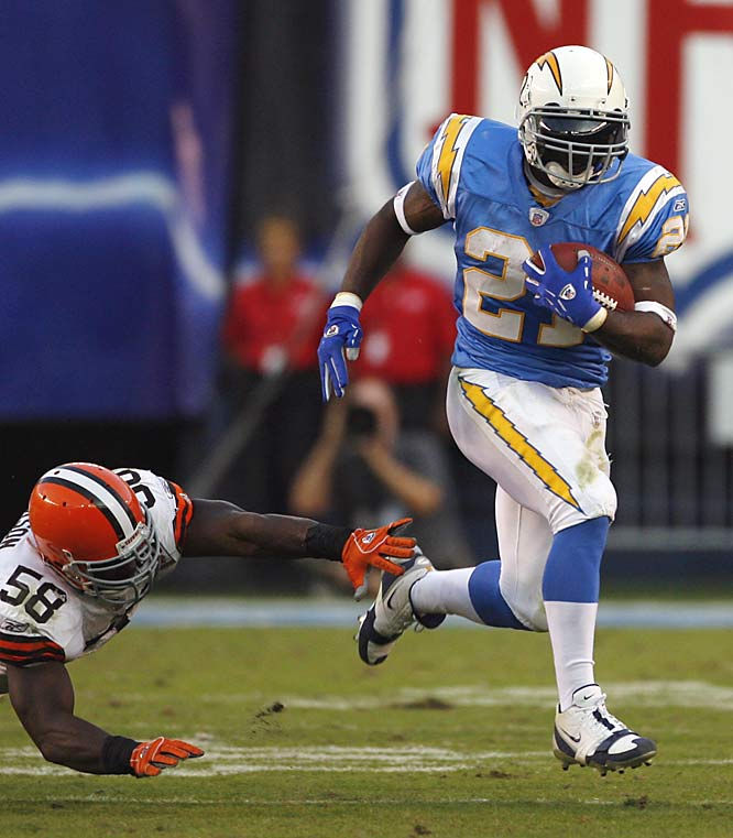 San Diego running back LaDainian Tomlinson had three touchdowns in the second half and finished with 172 yards on the day.