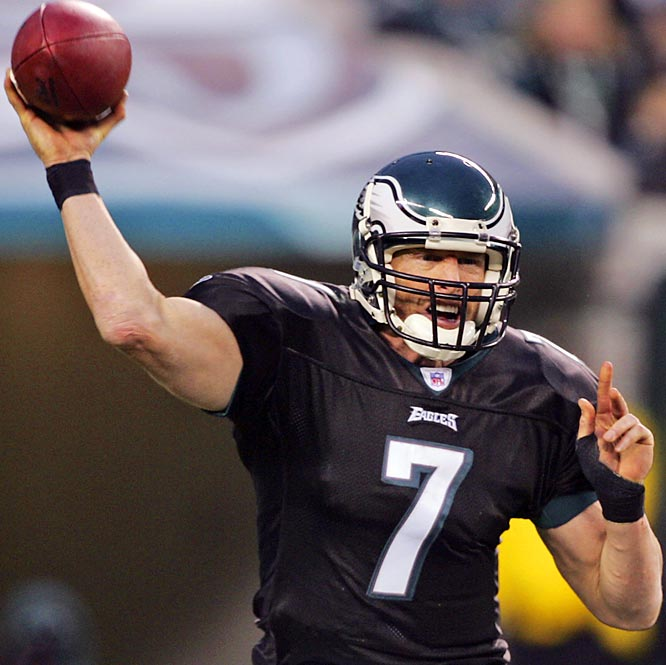 189 ... Eagles quarterback Jeff Garcia threw 48 passes Sunday but passed for only 189 yards, the fewest yards on 48 or more attempts in eight years, since Kerry Collins of the Panthers threw 53 passes for 188 yards against the Packers on Sept. 27, 1998. The Eagles' 267 total passing yards against the Titans are the fewest by a team on 61 or more pass attempts since Chris Weinke, also of the Panthers, had 223 passing yards on 63 attempts against Arizona on Dec. 30, 2001.