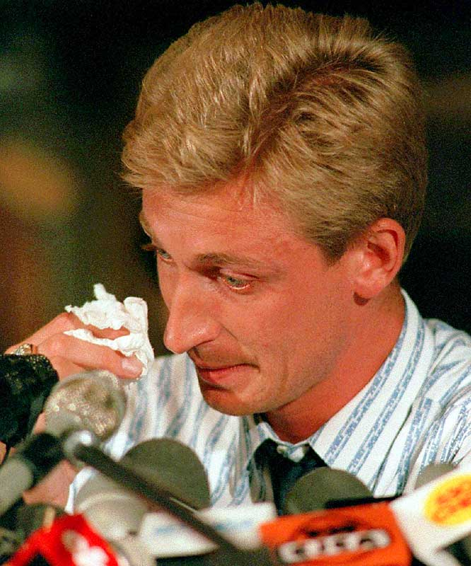 Gretzky was saddened on Aug. 9, 1988, when cash-strapped Oilers owner Peter Pocklington traded him, Marty McSorley and Mike Krushelnyski to Los Angeles for Jimmy Carson, Martin Gélinas, three first-round draft picks and $15 million. Gretzky's move south coincided with the NHL's push into non-traditional markets in southern regions of the U.S. and made him the sport's ambassador.