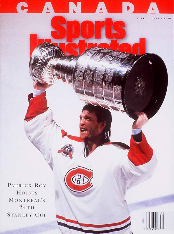 "Not surprisingly, Roy was hailed as ""St. Patrick"" in Montreal for his Cup heroics. He hoisted another in 1993, after the Habs defeated Wayne Gretzky's Kings, four games to one. Roy was again the Conn Smythe-winner after posting a 16-4, 2.13 GAA record in 20 games."