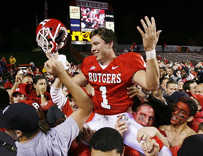 In the closing seconds, Rutgers kicker Jeremy Ito first missed a 33-yard field goal that would have won the game, but an offside penalty on Louisville gave him a second chance, and he delivered from 28 yards out.