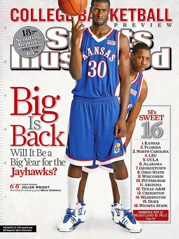 Ranked No. 3 in the country, but No. 1 in SI's College Basketball preview issue, the Jayhawks didn't just lose to anyone in their first game after the cover appearance, they lost to Oral Roberts, and in Lawrence, no less.