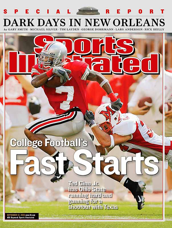 Ginn had 88 return yards, including 46 after a third-quarter kickoff, but he was held to nine receiving yards on two receptions as the Buckeyes' national title hopes were shot down by Vince Young and Texas, 23-20.