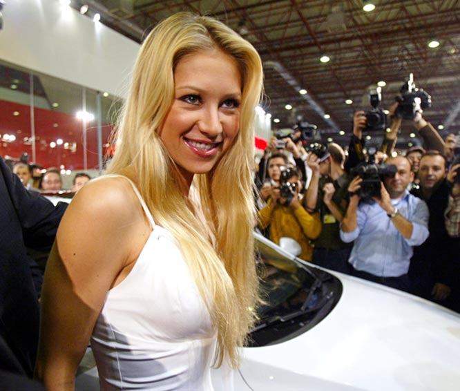 Who needs tennis? Anna Kournikova this week made an appearance at the International Autoshow Exhibition in Istanbul, Turkey.