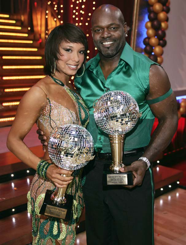 See that trophy Emmitt Smith is holding? Despite all the hype surrounding Dancing with the Stars, that's all he gets for winning the competition.