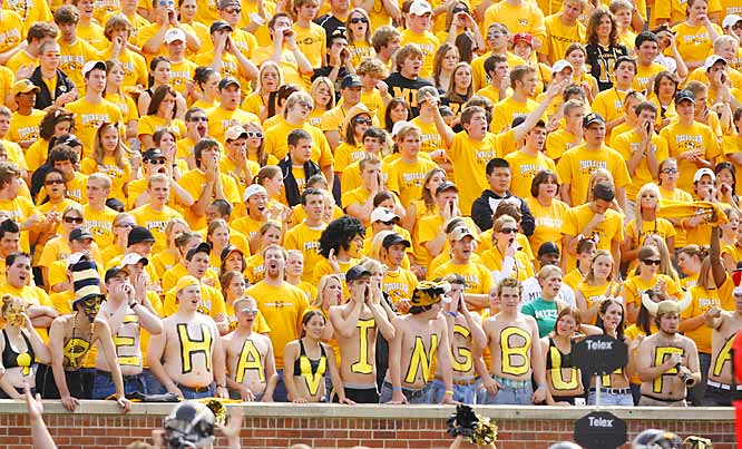 We're not sure what all the letters spell out, either, but we are sure that Missouri defeated a struggling Colorado squad, 28-13 in late September.