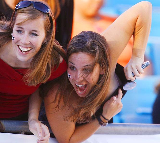 """This UGA fan almost had a """"wardrobe malfunction"""" during a 21-14 loss to Florida."""