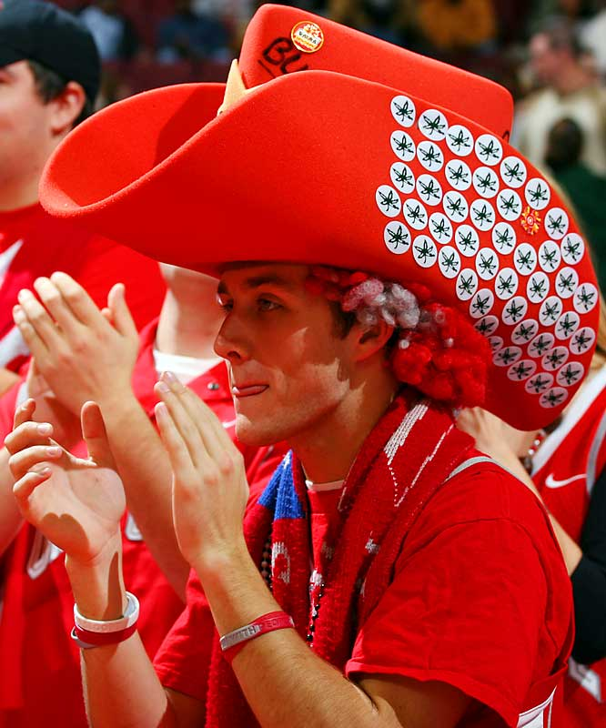 This Ohio State fan mistook Buckeyes for Buckaroos during their 78-57 victory over Cleveland State on Saturday.