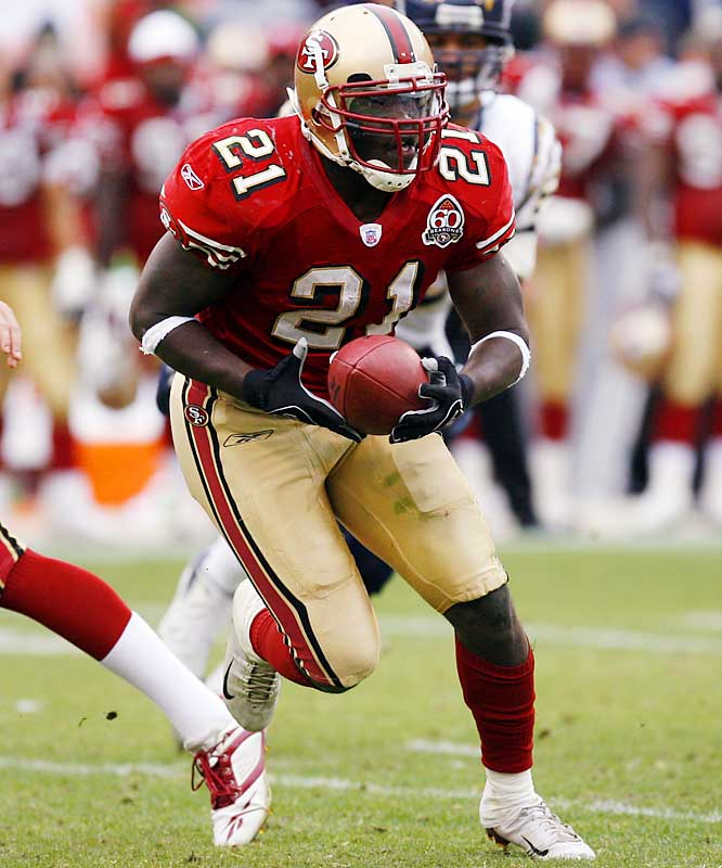 Gore shared carries with Kevan Barlow as a rookie, but always looked like the best back on this team. This season, Gore had the chance to prove it. He ran for 1,491 yards and six touchdowns through 14 games, and appears to be a solid backbone for the young, improving 49ers offense.