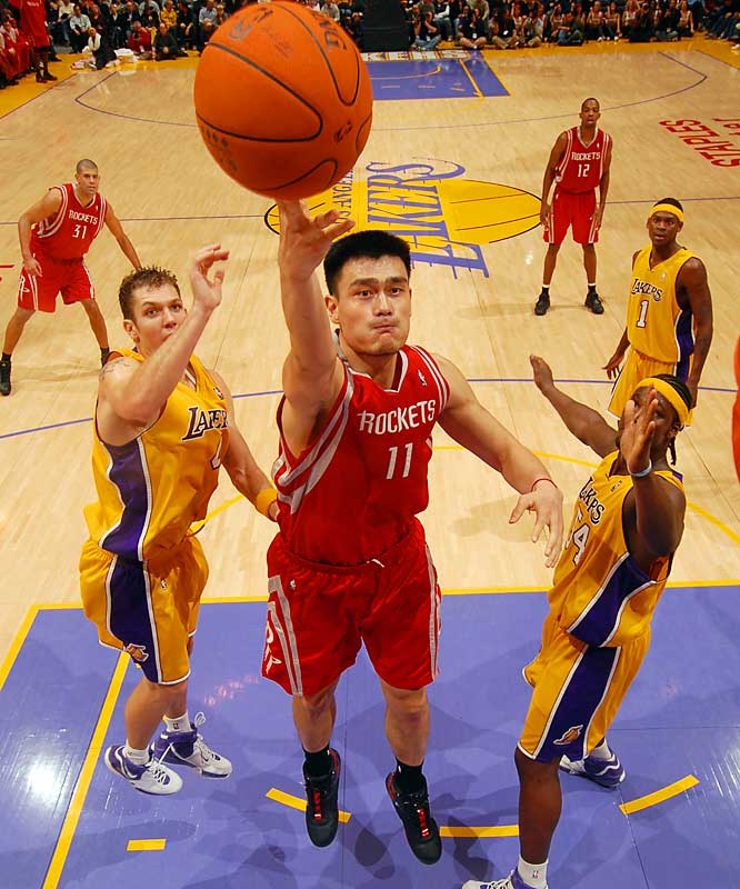 Before his season was cut short by injury, Yao was enjoying a breakout year with the Rockets in 2005-06, averaging 22 points and 10 rebounds per game. He's improved even more this season, carrying Houston back into the playoff race and solidifying his standing as the NBA's premier center. Some have him pegged as the early favorite for the 2006-07 MVP.