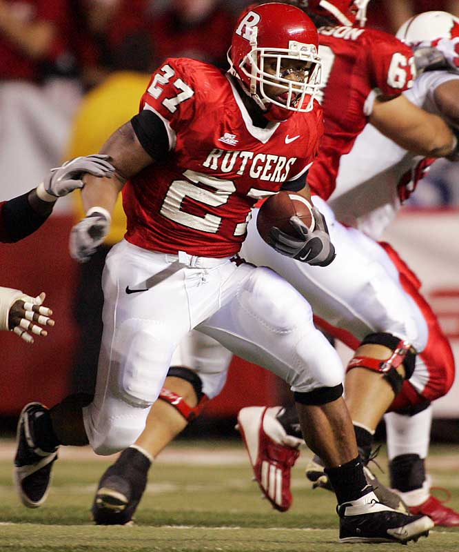 Teammate Brian Leonard received the preseason Heisman hype with a Times Square video advertisement, but Rice proved to be Rutgers' best option (1,624 yards; 19 TDs) during the Scarlet Knights' second 10-win year in the school's history.