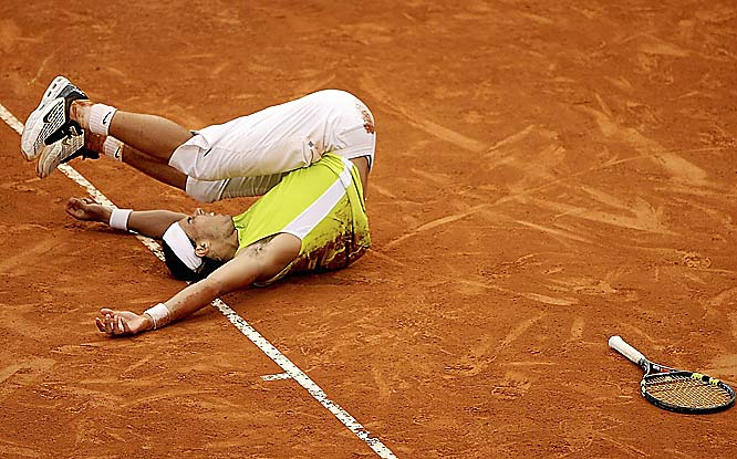 This match had it all. No. 1 vs. No. 2. Breathtaking action. Squandered match points. A fifth set tie-breaker win by Nadal -- 6-7 (0-7), 7-6 (7-5), 6-4, 2-6, 7-6 (7-5). A dash of bad blood. Why can't they call be like this?