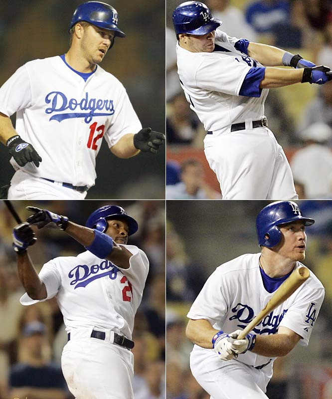In one of the most improbable comebacks of this or any other season, the Dodgers got four consecutive solo home runs in the bottom of the ninth -- from Jeff Kent, J.D. Drew, Russell Martin and Marlon Anderson -- to tie the score at 9-9, then watched as a hobbled Nomar Garciaparra complete yet another comeback with a two-run shot in the 10th that beat the Padres, 11-10.