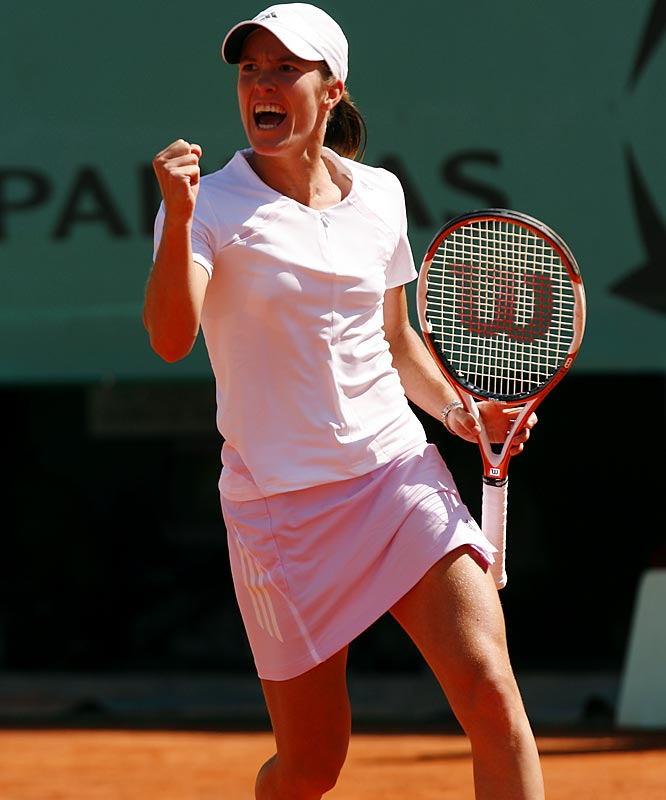 Justine Henin-Hardenne became the first woman since 1994 to win the French without losing a set. It was her fifth Grand Slam title and third at Roland Garros.