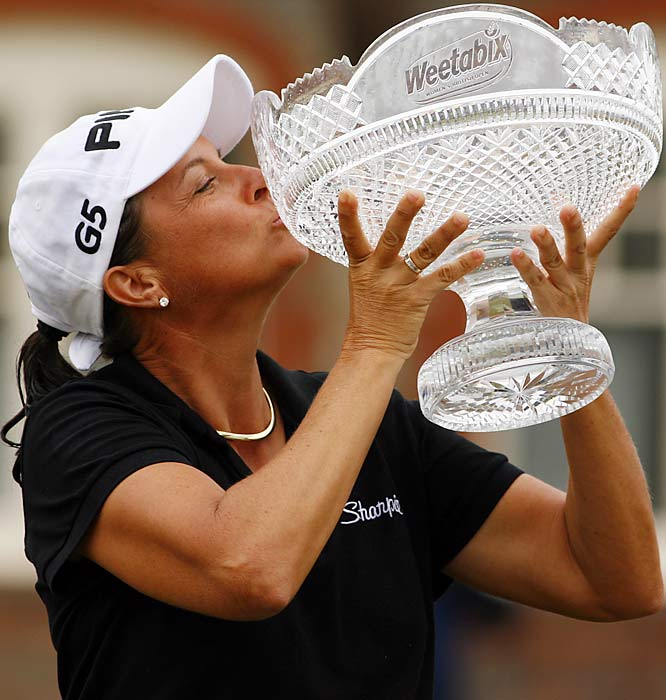 Karrie Steinhauer, 43, won her second major and first since 1992 by shooting a 7-under, 281 at Lytham St. Annes, England.