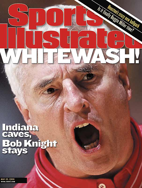 """After a thorough investigation, Indiana president Myles Brand decided to retain Knight despite a choking incident with Neil Reed and a charge that he cursed and threw a vase at a secretary, among others. Brand suspended Knight for three games, docked him $30,000 in pay, established """"zero tolerance"""" rules for his behavior at practice, in games, and public capacities, including dealing with the press. """"Should Bob Knight violate any of these requirements, he will be terminated,"""" Brand said. Many, including SI, disagreed with the decision."""