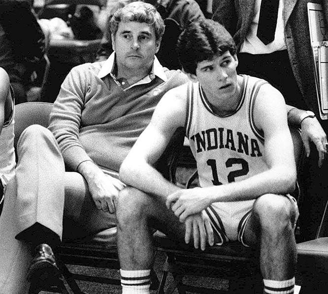 The 1984-85 season ended on this day at Madison Square Garden for Knight and star point guard Steve Alford. But it was author John Feinstein's A Season on the Brink that made Alford, now the coach at Iowa, famous for his tempestuous relationship with Knight. Feinstein was allowed full access into the inner workings of Knight's basketball and personal life. While Knight did not enjoy the final product, readers did. The season-long chronicle of Knight's 1985-86 team became a New York Times Bestseller.