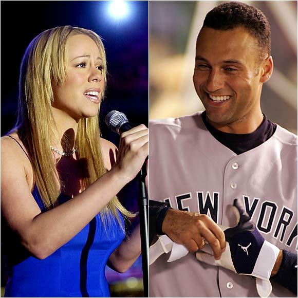 Derek Jeter and Mariah Carey