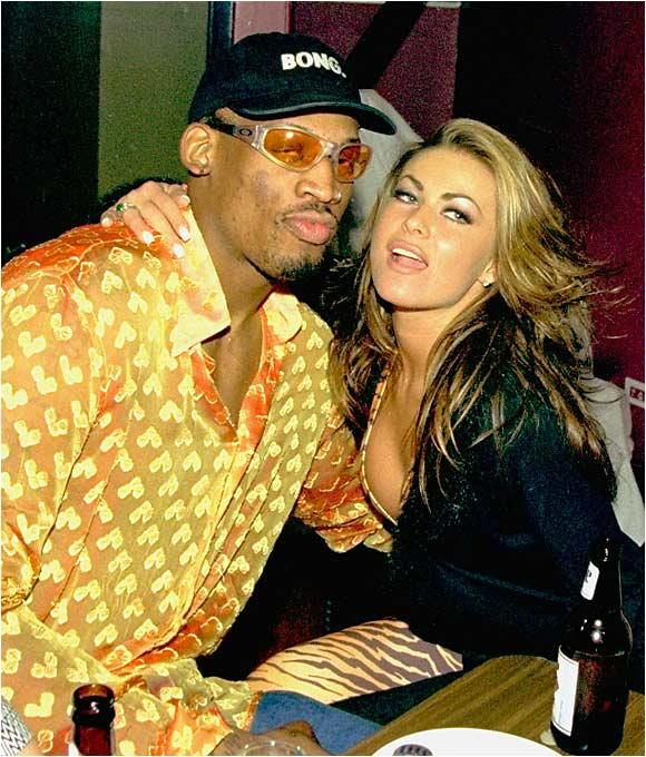 Dennis Rodman and Carmen Electra