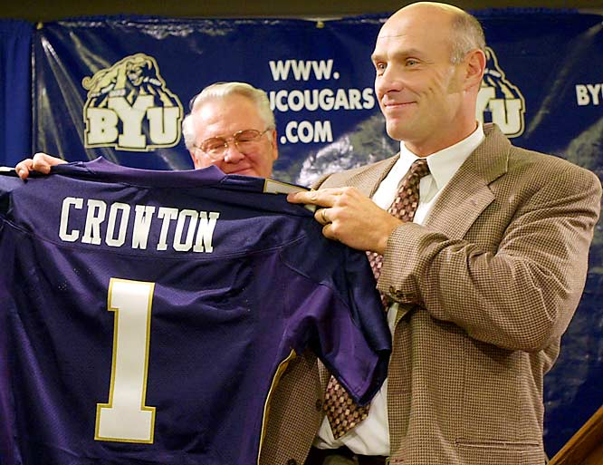 BYU vs. Oregon <br><br>BYU coach Bronco Mendenhall and many of the BYU players face off against the man that brought them to Provo, Gary Crowton. Now the offensive coordinator for Oregon, Crowton served as BYU's head coach from 2001 to '04, before he was forced out.