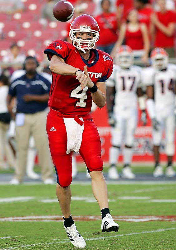 South Carolina vs. Houston <br><br>Although he remains a relatively anonymous player nationally, Houston's Kevin Kolb is fourth in NCAA history in total offense. The four-year starter will use this game vs. South Carolina as a showcase game for NFL scouts.