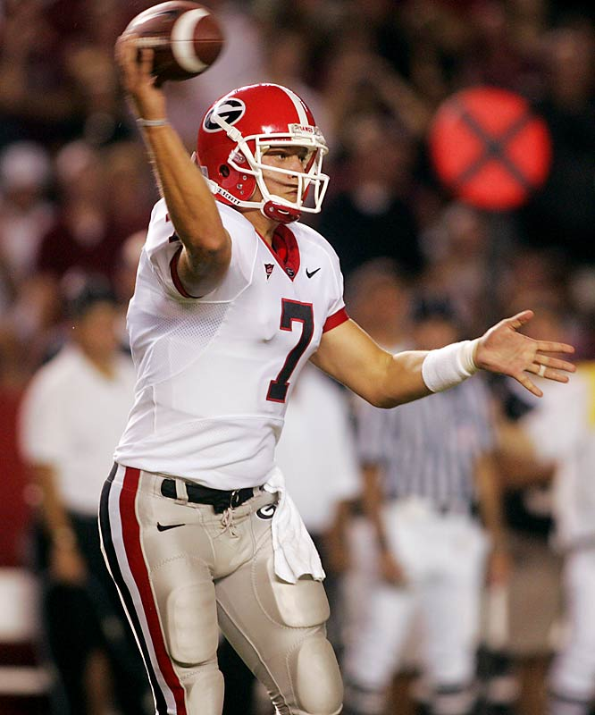 Virginia Tech vs. Georgia <br><br>Over the first 10 games, freshman QB Matthew Stafford threw just four touchdown passes to 12 interceptions. But over the final two contests, Stafford tossed two touchdowns and no picks. How will he fair against the nation's No. 1 defense?