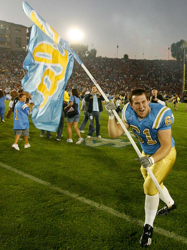 UCLA earned Los Angeles bragging rights for the next year as defensive lineman Brian Ruziecki got to wave the Bruins' flag.