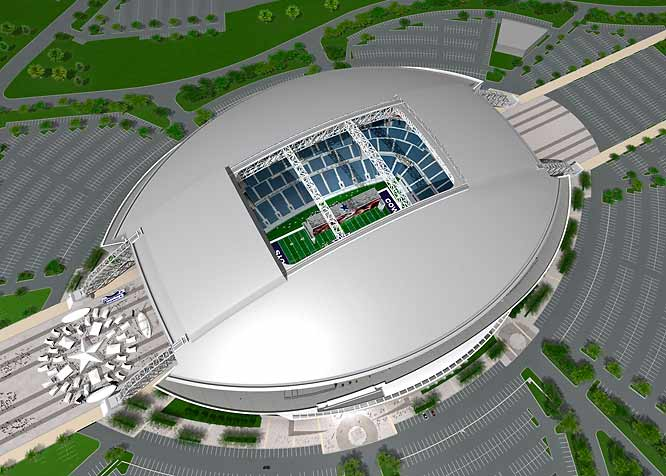 Unlike the Cowboys' current home, the hole in the roof can be covered by a sliding roof. The Cowboys expect the roof to be closed on most game days.