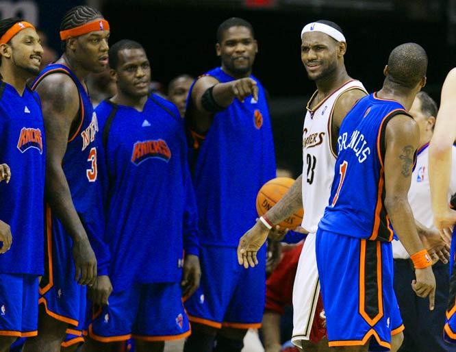 The Knicks are awestruck when they see a real basketball player.