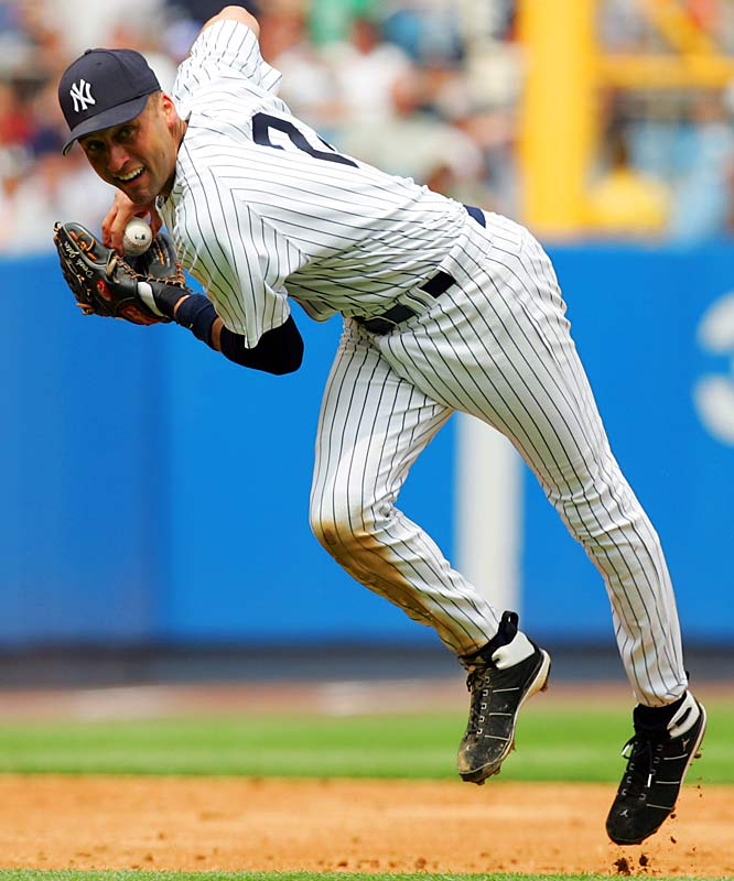Thanks to A-Rod's 10-year, $252-million deal of 2001, the Yankees felt compelled to reward their own superstar shortstop, who, unlike Rodriguez, had actually won championships before. Jeter had four World Series rings when he signed this deal in 2001. In the final year of his contract, Jeter set career lows in batting average, on-base percentage and slugging percentage at 35. After the 2010 season, he agreed to a new three-year, $51 million contract that includes a player option for the 2014 season, a salary that made him the highest-paid shortstop in the game and still one of the 20 highest-paid players in baseball.