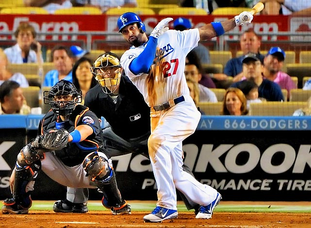 In his best season-to-date, the 27-year-old hit .324/.399/.586 and led the National League with 39 home runs and both leagues with 126 RBI in 2011. He also stole 40 bases, falling just one home run shy of joining the elite 40 stolen base and 40 home run club. The Dodgers agreed on an eight-year contract extension with Kemp.
